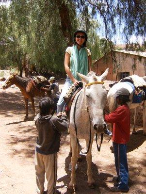 Kay on horse