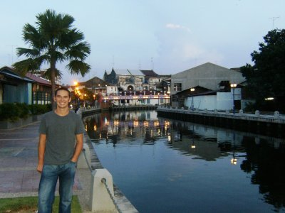 Steve & the river in Melaka