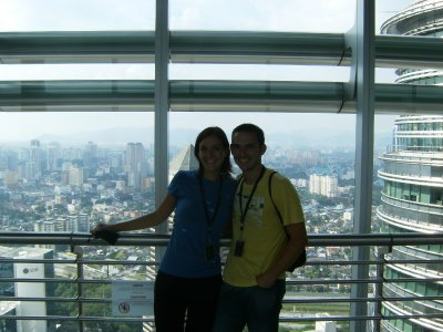 Us on the Petronas Skybridge