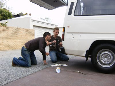 Steve & Dave doing mechanics