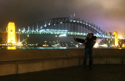 Sydney Harbour Bridge in the rain!