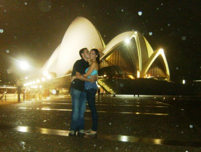 Sydney Opera House in the rain!