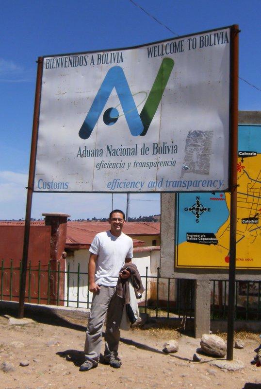 Steve at Bolivia - Peru Border