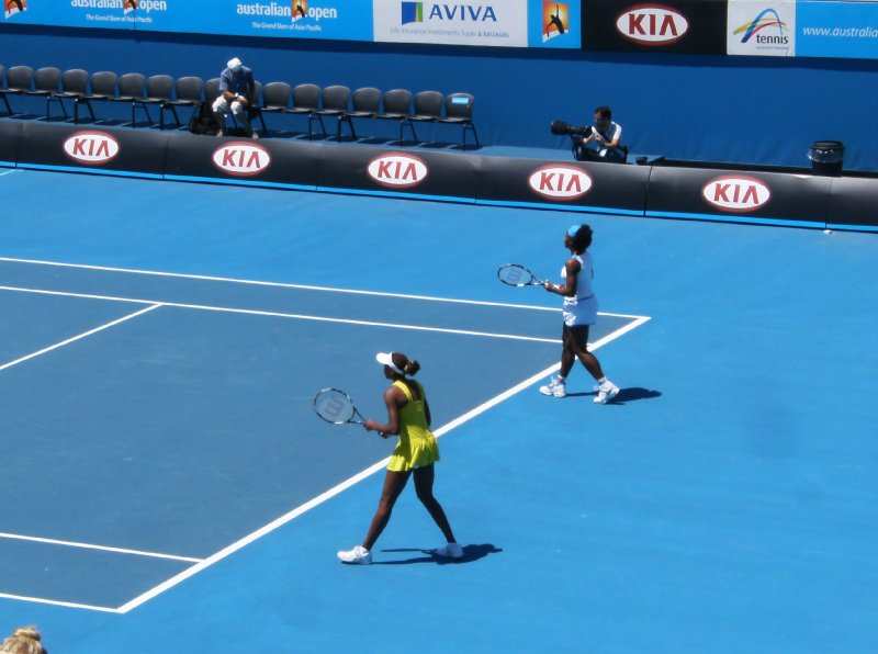 Williams sisters at the Australian Open