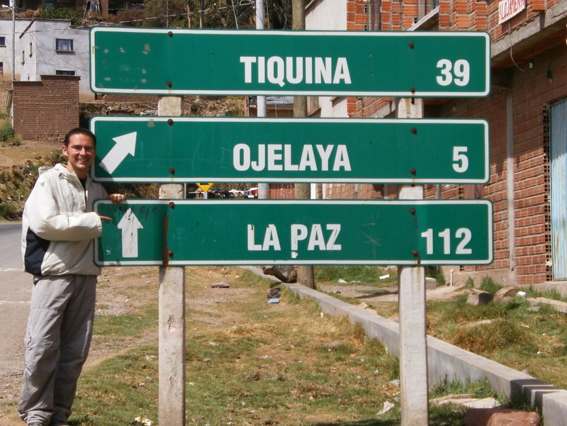 La Paz sign