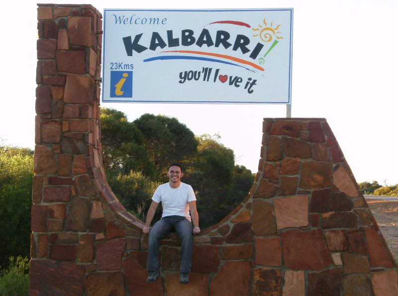 Kalbarri Welcome Sign