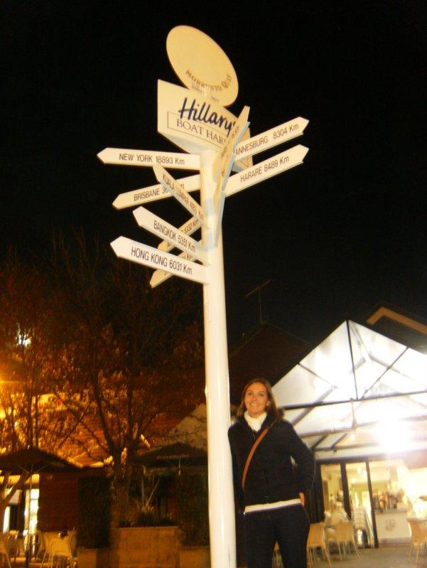 Hillarys Boat Harbour - distance sign