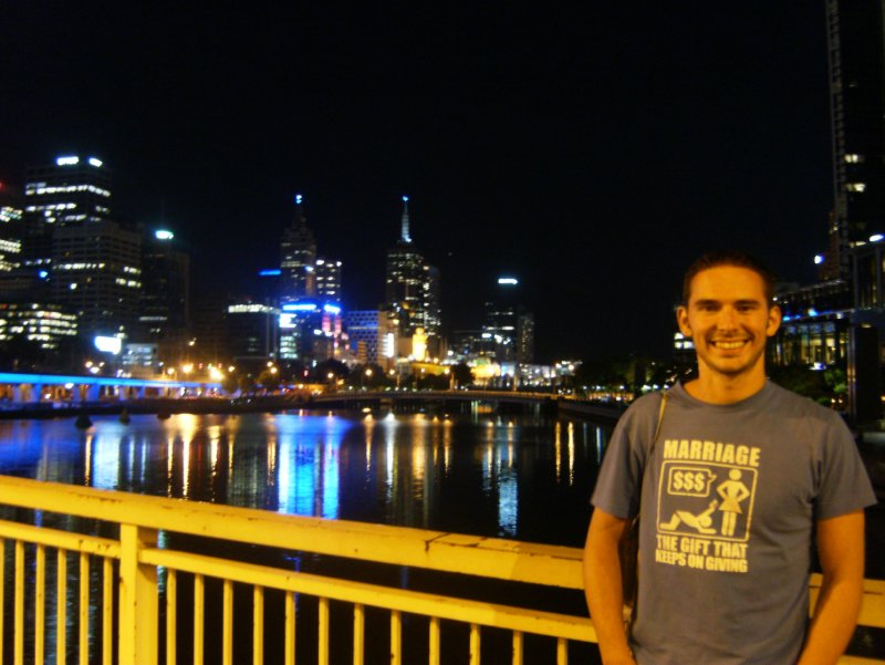 Steve & The Yarra by night!