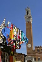 Siena Plazza del Campo Flags Fly