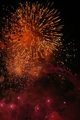 London fireworks show New Years