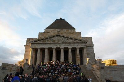 ANZAC Day at the Melbourne Shrine of Rememberance