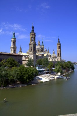 Zaragoza Cathedral From the Bridge