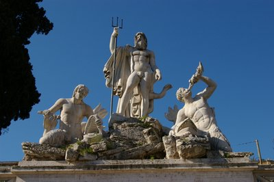 Neptune sculpture at Piazza del Popolo