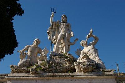 Neptune sculpture at Piazza del Popolo