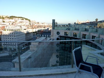 View from our hotel roof across Lisbon