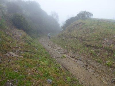 Climbing up through the cloud