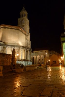 Diocletian Palace at night