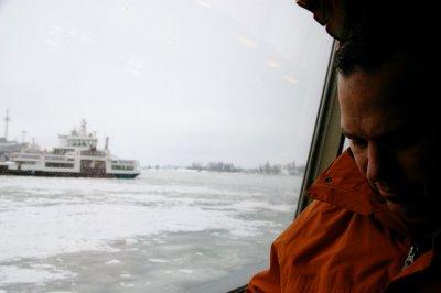 Stephen on Ferry from Helsinki to Suomenlinna