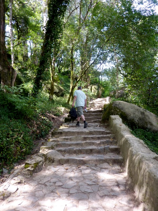 Stephen walking up to Moorish Castle at Sintra