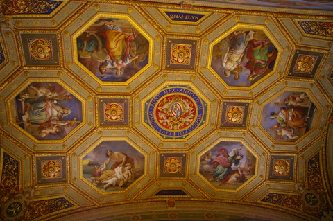 Ceiling of the Vatican museum