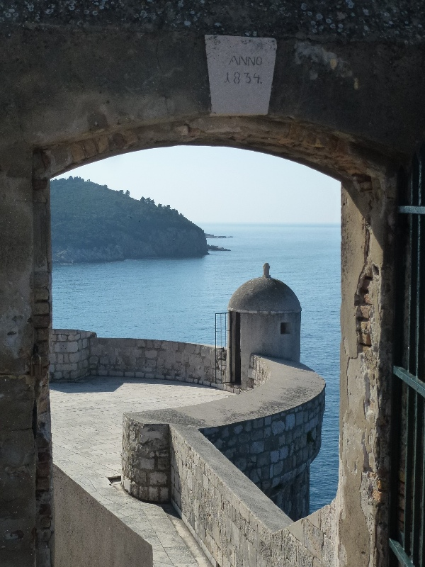 Atop the walls of Dubrovnik