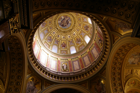 The dome in St Stephen's Basilica