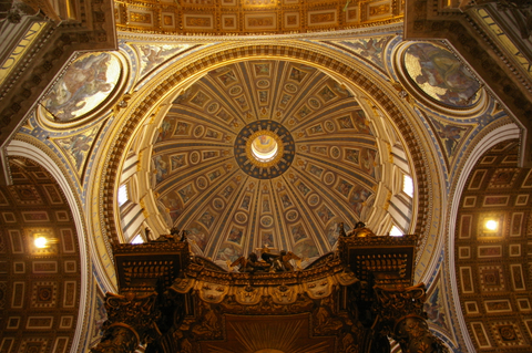 The dome of St Peter's