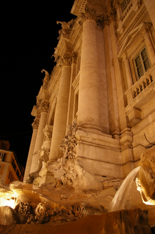 Trevi at night
