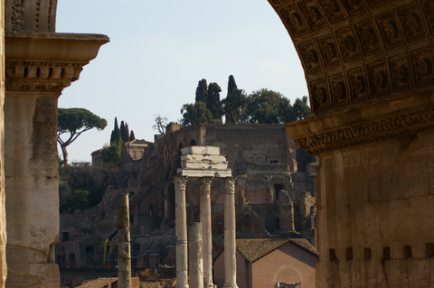 View through the arch of Septimius Severus