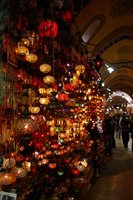 Glass light shades at Grand Bazaar