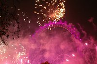 Fireworks at London Eye
