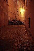 Narrow, cobbled Roman street