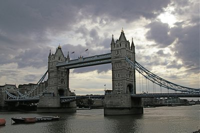 Tower Bridge in Overcast London