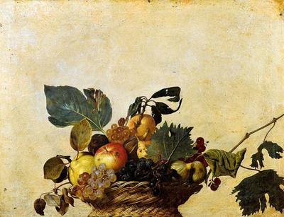 """Basket of Fruit"" by Michelangelo Merisi da Caravaggio."
