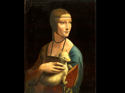 """Lady with an Ermine"" by Leonardo Da Vinci."