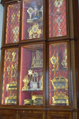 A reliquary cabinet