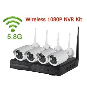 4CH 1080P 5.8G WIFI NVR Kit