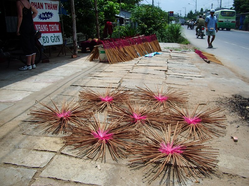 Drying Incense Sticks