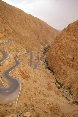 Switchbacks in Dades Valley