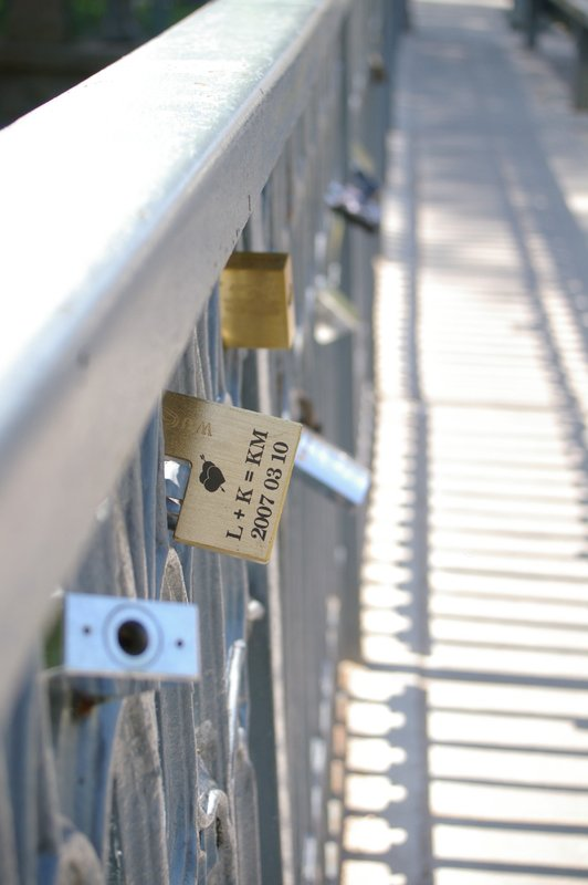 Locks on a bridge - Vilnius
