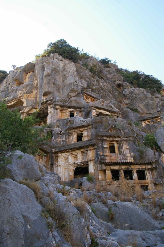 Myra cliff tombs Lycian Way