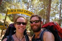 Us at the end of the Lycian Way