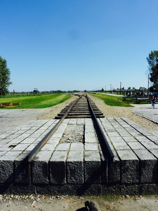 End of the track at Birkenau.