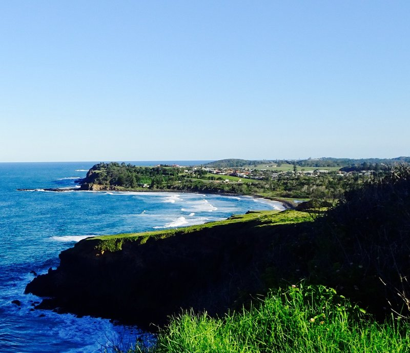 The southern view from the Lenox Head lookout is of Ballina. We would stay here our last night before heading inland.