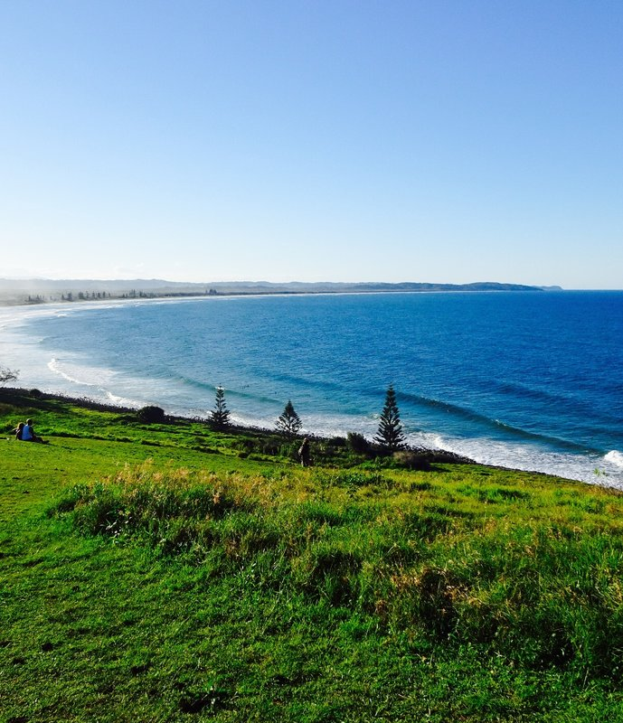 Seven Mile Beach as viewed from the lookout above Lennox Head.