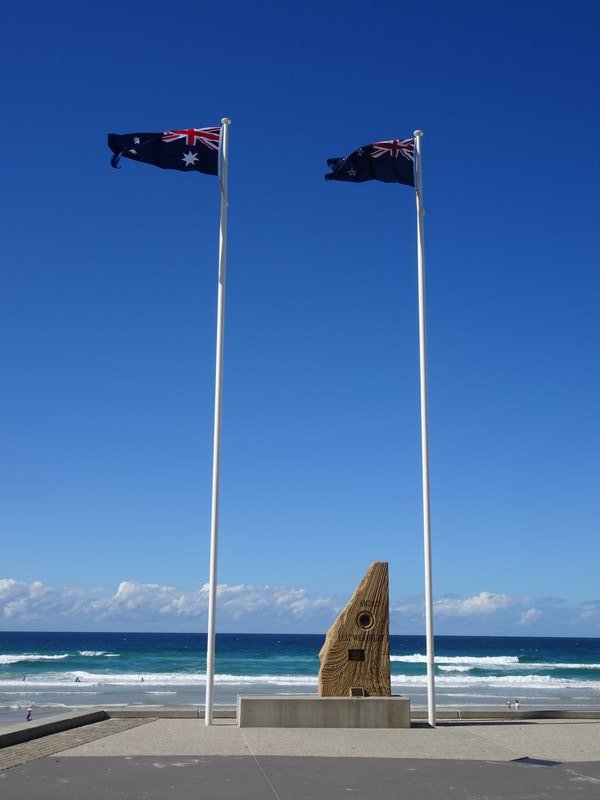 The Surfers Paradise Memorial Stone.