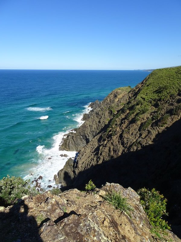 The most easterly point of mainland AU is located on these cliffs below the Cape Byron Lighthouse.