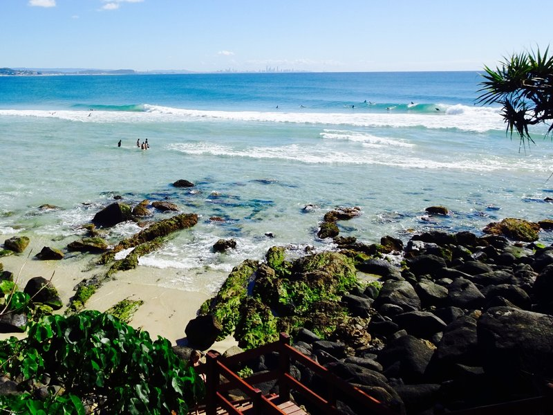 One of the Coolangatta beaches near Danger Point.