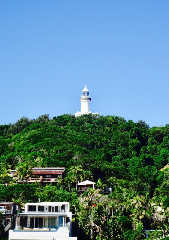 The Cape Byron Lighthouse as viewed on our walk from Byron Bay to the Cape Byron Reserve.