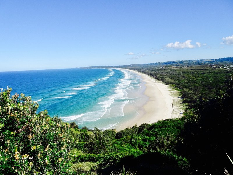 The view of Arakwal NP from the Cape Byron Reserve.